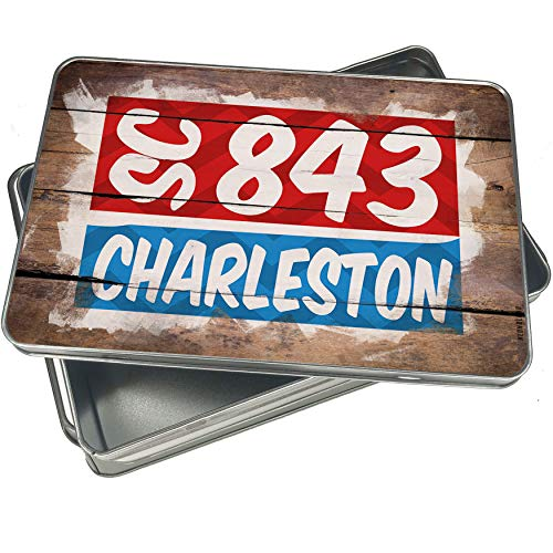 (NEONBLOND Cookie Box 843 Charleston, SC red/blue Christmas Metal)