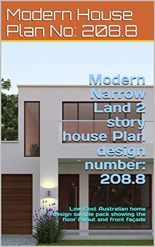 Amazon.com: Modern Narrow Land 2 story house Plan design ... on