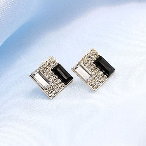 Graceful Lady Women Elegant Crystal New Square Gift Earrings Jewelry Ear Stud Jewerly Accessories Fashion Bright Designer Novelty Girls Cute Simple Comfy from Brosco