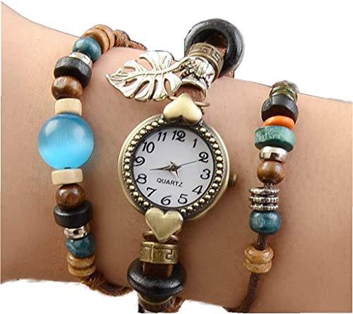 Yulan Women's Watches Wrap Leather Stone Bracelet Watch