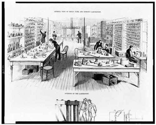 Photo: Interior,laboratory,equipment,Thomas Alva Edison,Menlo Park,New - Nj Menlo Park Edison