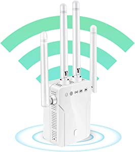 WiFi Extender, WiFi Booster, Covers Up to 2500 Sq.ft and 30 Devices, 1200Mbps Dual Band WiFi Repeater, Extend WiFi Signal to Smart Home and Alexa Devices