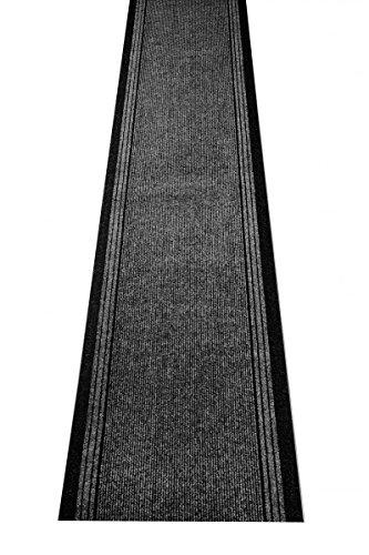 Küchenteppich / Küchenmatte / Teppichläufer Kongo anthrazit, Größe Auswählen:80 x 400 cm