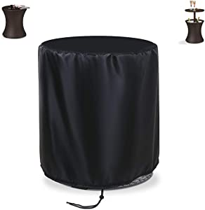 """Aidetech Patio Cool Bar Table Cover Round 20"""" D x 22"""" H, Waterproof Windproof Dustproof for 7.5-Gal Cool Bar Rattan Style Table"""