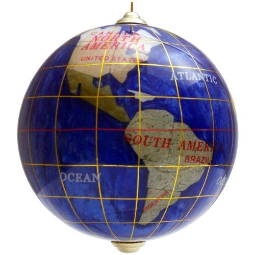 Handcrafted Gemstone Christmas Globe Ornament, Sapphire Blue - Online Usa South Alabama