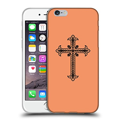 GoGoMobile Coque de Protection TPU Silicone Case pour // Q07770607 Christian Cross 2 Mandarine // Apple iPhone 6 PLUS 5.5""