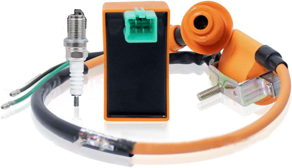 125cc ATV Ignition Coil Spark Plug For 50cc 5 PIN AC CDI Box