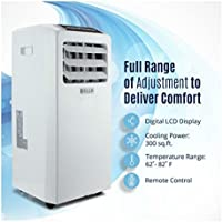 Air Conditioner Cooling Fan 10000 BTU Portable Dehumidifier A/C Window White