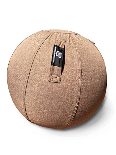 All-In Performance Gear Premium Sitting Ball Chair With Non Slip Bottom - Perfect for the Office, Yoga, Home, Gym or Work - Exercise Ball With Cover For Men & Women - Pump Included by All-In Performance Gear