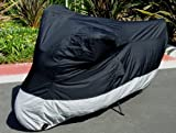 Formosa Covers Deluxe all season Motorcycle cover (L). Fits up to 84'' length sport bike, dirt bike, small cruiser.