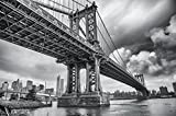 Manhattan Bridge New York USA Mural by GREAT ART XXL Poster Wall decoration 140 cm x 100 cm