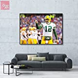 GoGoArt ROLL Canvas print wall art photo big picture poster modern (no framed no stretched not oil painting) Aaron Rodgers sport NFL football Green Bay Packers Quarterback A-0069-1.5 (32 x 48 inch)