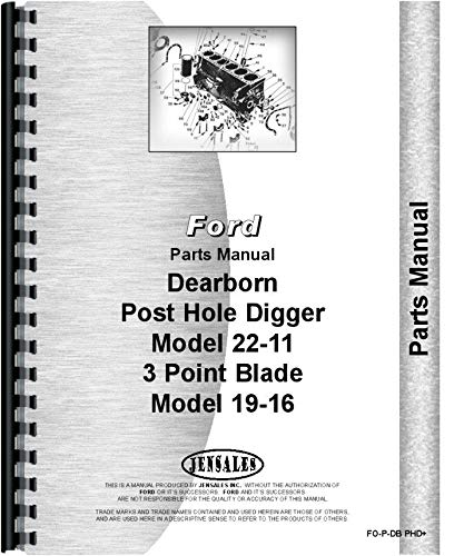Dearborn 3 Point Lift and Post Hole Digger Parts Manual (FO-P-DB ()