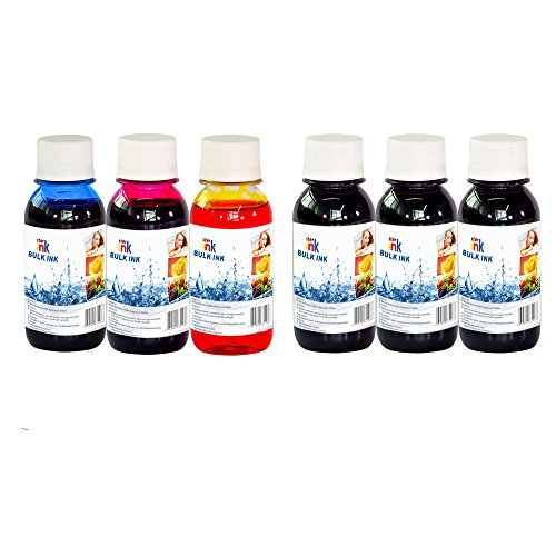 Starink 600ml Dye Refill Ink Kit for all Printers: HP Canon Epson Brother Lexmark Refillable ink Cartridges and CIS Systems, HP 62 920xl 564xl 933 Ink
