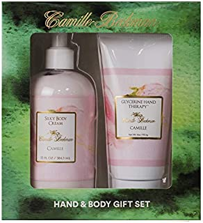 product image for Camille Beckman Hand and Body Duet Set, Silky Body and Glycerine Hand Cream, Camille