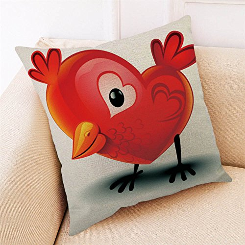 iYBUIA Happy Valentine Square Cotton Linen Pillow Cases 4545cm Sofa Cushion Cover Home Decor (Pillow Toss Lace)