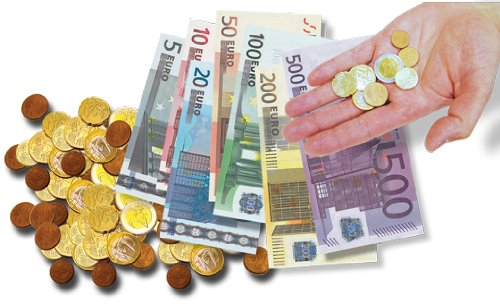 Euro Coins and Bills Set product image