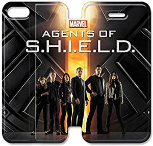 Flip Folio Leather Case for iPhone 5 5s Cell Phone Case Marvel's Agents Of S.H.I.E.L.D. HPM4617206