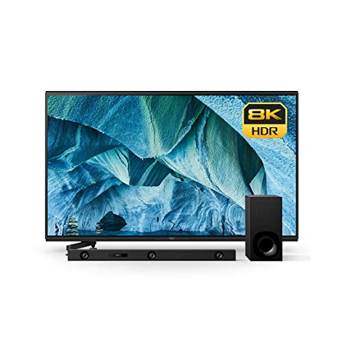 Sony XBR-85Z9G 85-Inch 8K HDR Smart Master Series LED TV (2019 Model)With Z9F 3.1ch Sound bar with Dolby Atmos and Wireless Subwoofer (HT-Z9F)