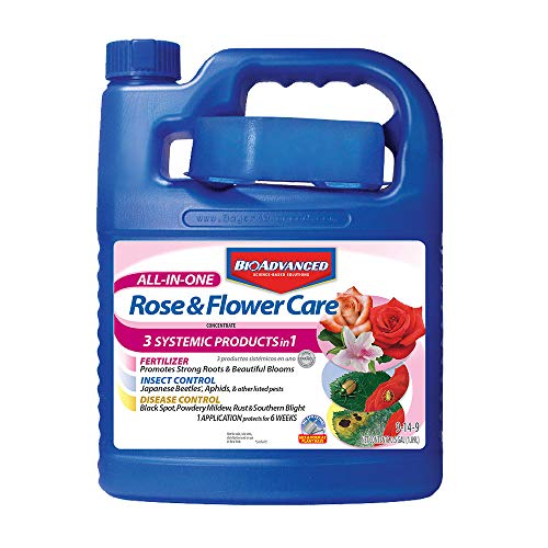 - Bayer Advanced 701262 All-In-One Rose and Flower Care Concentrate, 64-ounce