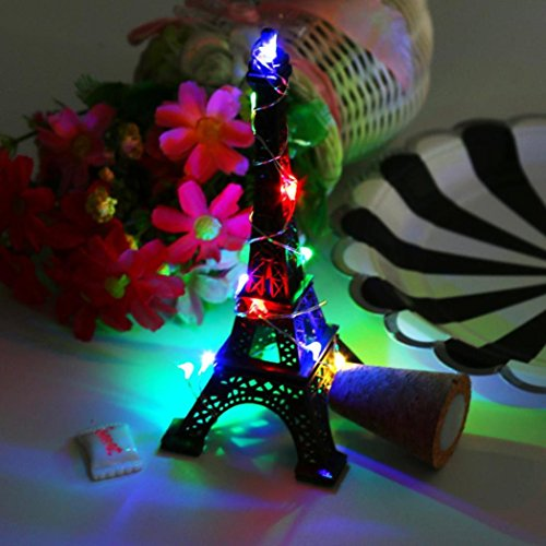 Coohole Cork Shaped 15 LED Night Light Starry Lights Wine Bottle Lamp For Christmas Xmas Party Colorful Lights (A) by Coohole (Image #3)