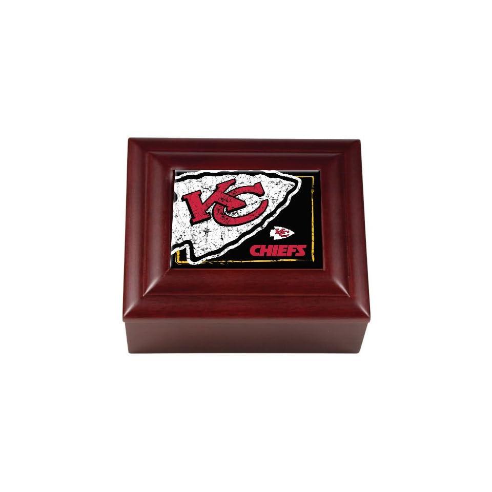 BSS   Kansas City Chiefs NFL Wood Keepsake Box