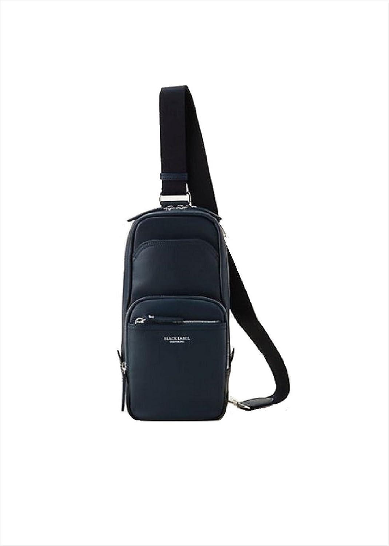 ブラックレーベル クレストブリッチ メンズ バッグ ソフトレザー ボディバッグ バーバリー ライセンス商品 (ブラック) B079KSVJ29ネイビー