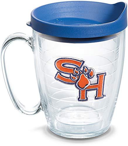 Houston Mug - Tervis 1136588 Sam Houston Bearkats Logo Tumbler with Emblem and Blue Lid 16oz Mug, Clear