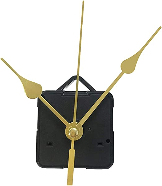 Doitool 1 Piezas Kit De Movimiento Reloj De Cuarzo Silencioso Mecanismo De Reloj Maquinaria Reloj Pared Maquinaria De Reloj Con Agujas De Pared Con 3 Manos Sin Batería Mano Dorada Amazon Es Hogar