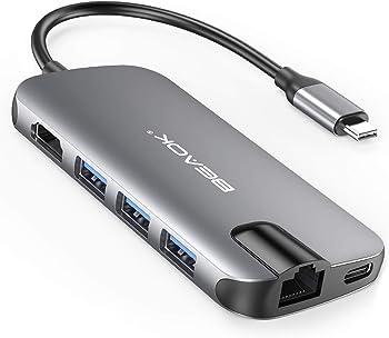 BEAOK 8-in-1 Thunderbolt 3 USB Type-C Hub Adapter