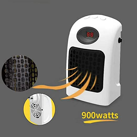 Fdgnb Calentador de Pared Espacio 900W Personal Mini Ventilador ...