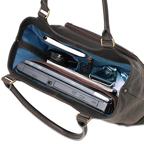 Solo Executive 16 Inch Leather Laptop Bucket Tote, Espresso