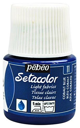 Pebeo Setacolor Light Fabrics Paint 45-Milliliter Bottle, Cobalt Blue ()