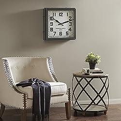 Hamilton Metal Clock Dark Silver/Dark Brown See below