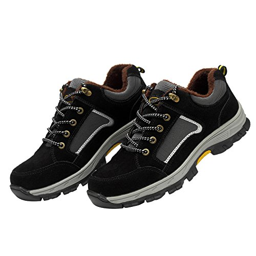 1 Black Toe Safety Work Steel Shoes Optimal Men's Shoes Shoes Rq8RzFT