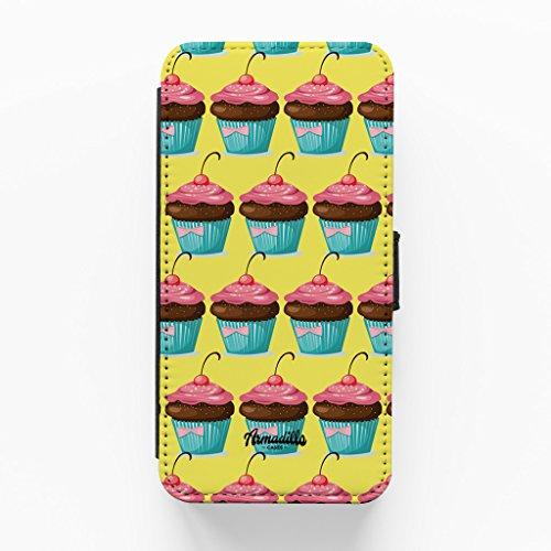 Cherry Cupcakes Hochwertige PU-Lederimitat Hülle, Schutzhülle Hardcover Flip Case für iPhone 6 Plus / 6 Plus vom BYMBOW + wird mit KOSTENLOSER klarer Displayschutzfolie geliefert