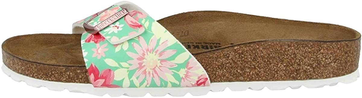 Birkenstock Mules Madrid Birko-Flor Supernatural Flower Navy, Sandali Donna Supernatural Flower Emerald 1016772