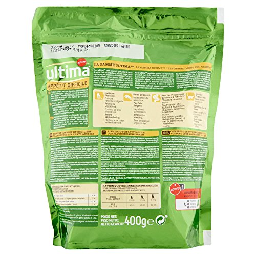 Ultima Appétit difficile para Gatos 400 g - Pack de 8: Amazon.es: Productos para mascotas
