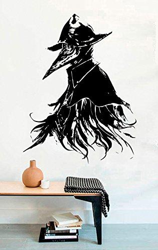 Eileen the Crow Vinyl Wall Decals Halloween Decor Stickers Vinyl Mural MK5725 -