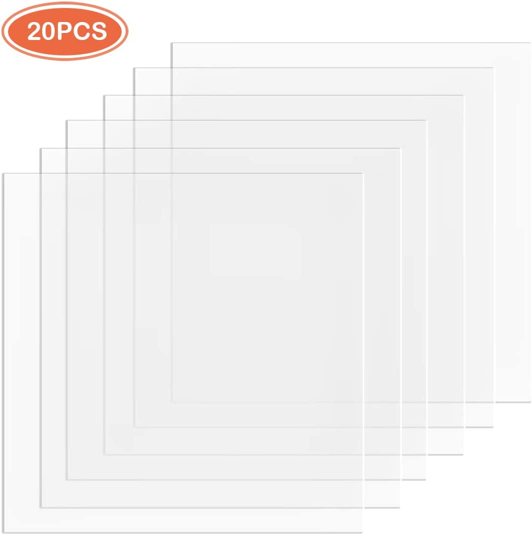 MotBach 20pcs 6mil Blank Templates Stencil Material,12 x 12inch,Mylar Template Sheets for Stencils,Blank PET Sheets,Perfect for Cricut & Silhouette Machines