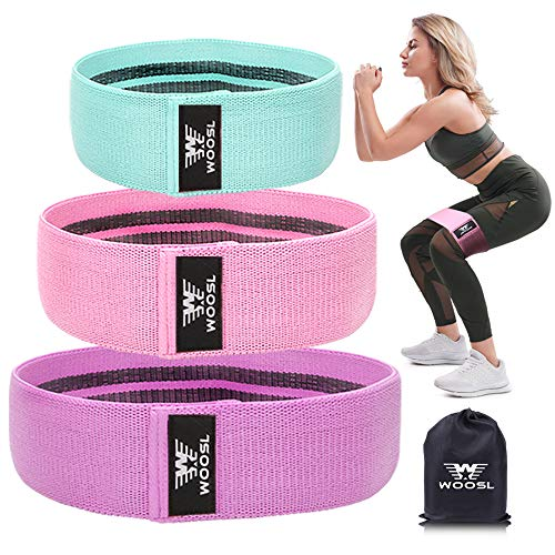 WOOSL Resistance Bands Legs Butt, Exercise Bands Resistance Band Hip Bands Wide Booty Bands Workout Bands Sports Fitness Bands Stretch Resistance Loops Band Anti Slip Elastic (2019 Upgrade) ()