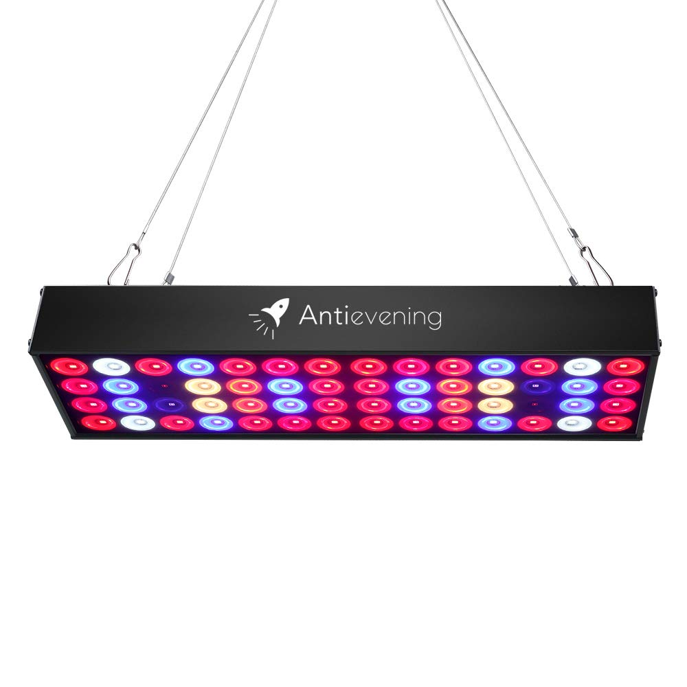 36W Full Spectrum LED Grow Light with UV & IR,No Noise Led Grow Light Bulb with Daisy Chain for Indoor Plants.Cool When Running,Energy-efficient,Works for All Stages by Antievening (Image #1)
