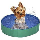 Pettom Dog Pet Pool Large Bath Swimming Inflatable Folding Collapsible Sturdy Bathtub Easy Storage Set (Green, L) Pools
