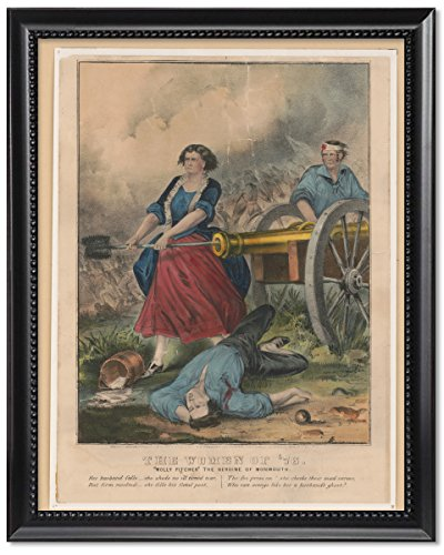 Framed Print 11X14  The Women Of 76  Molly Pitcher The Heroine Of Monmouth  Circa 1856