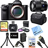 Sony a7S II Full-frame Mirrorless Interchangeable Lens Camera 24-70mm Lens Bundle includes a7S II Body, 24-70mm Full Frame Lens, 67mm Filter Kit, 64GB Memory Card, Reader, Beach Camera Cloth and More