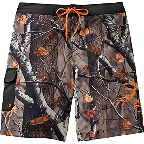 - 51rpSgbbqaL - Legendary Whitetails Men's Rolling Stone Big Game Camo Swim Trunks
