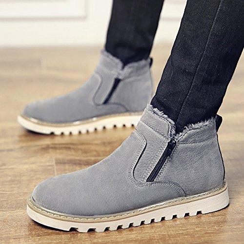 Multiple Keep 3 calzature sportive Le Warm uomo Winter Grigio Colors EU39 da CN40 UK6 Nero Scarpe Martin Size 5 Choice FEIFEI Colore Boots dimensioni S6P5dnPW