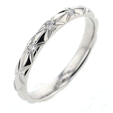 268aebdb8156 (シャネル)CHANEL マトラッセ 3P リング・指輪 プラチナPT950/ダイヤモンド レディース 中古