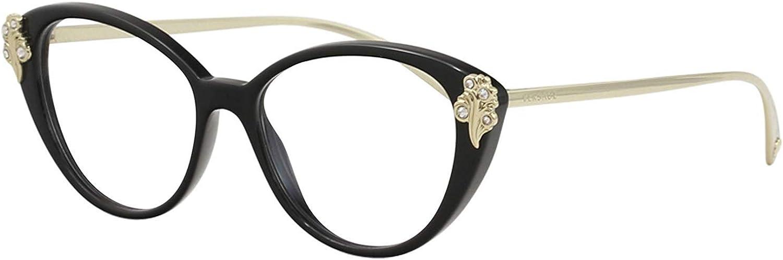Black VE3213B-GB1-52 Versace VE3213B Eyeglass Frames GB1-52
