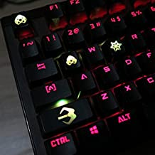 All Decor Overwatch Theme Keycaps Hand-Engraved Resin Translucidus Backlit Key caps for Mechanical Keyboards (cherry switches) With Gift Case - Widowmaker